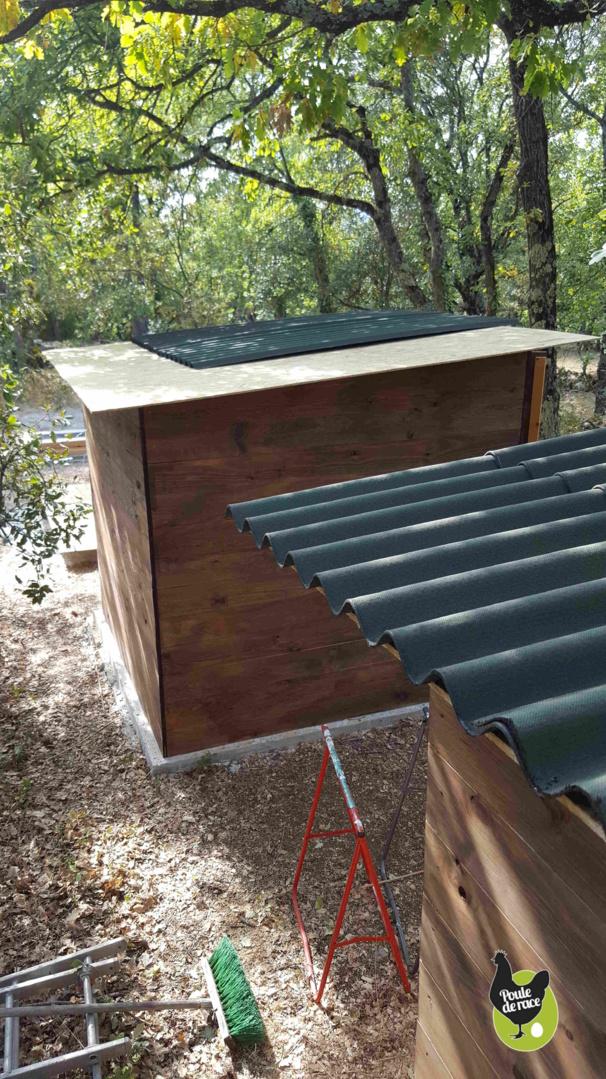 mis en place de l'étanchéité du toit