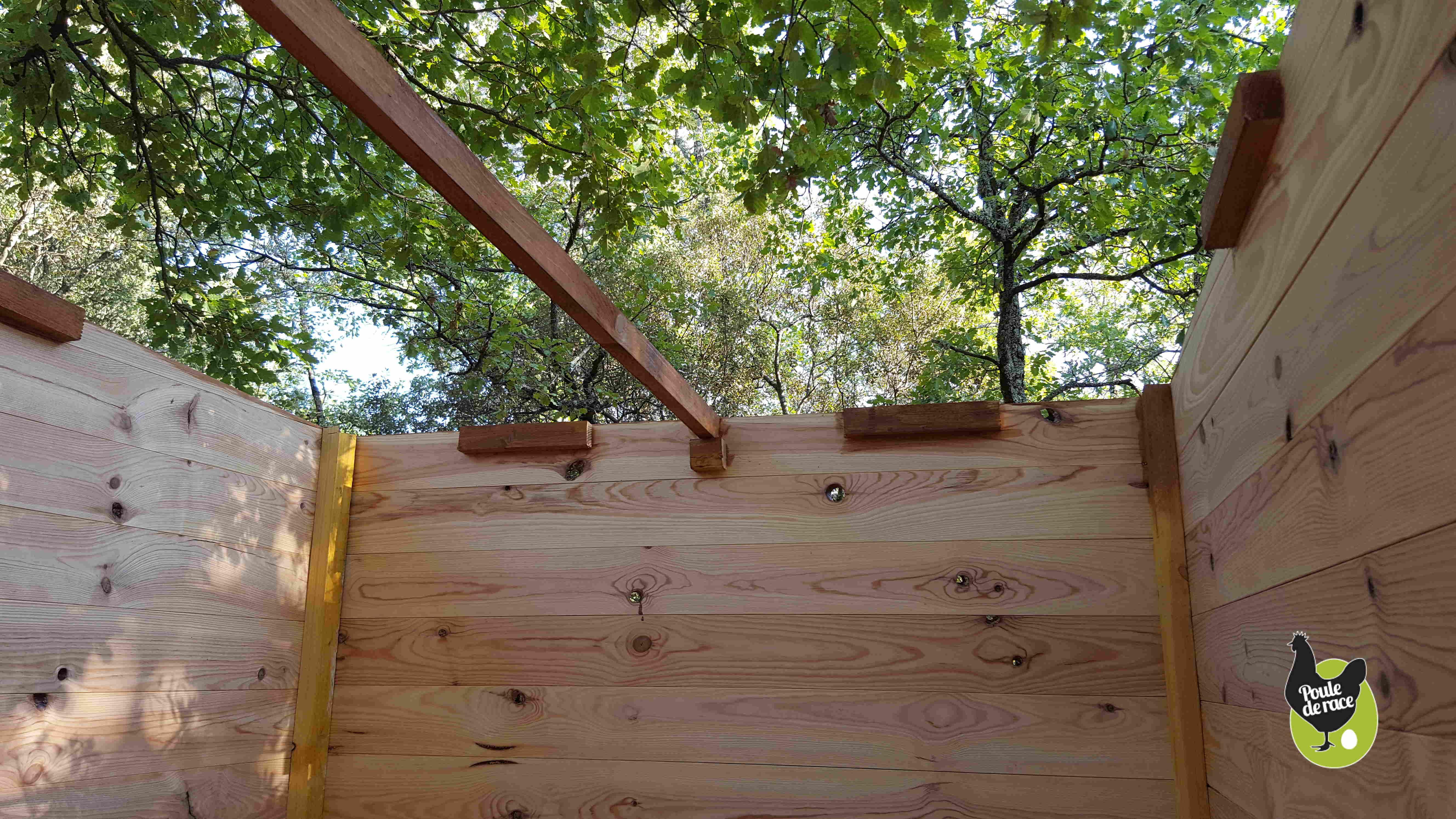 renforts pour la pose du toit