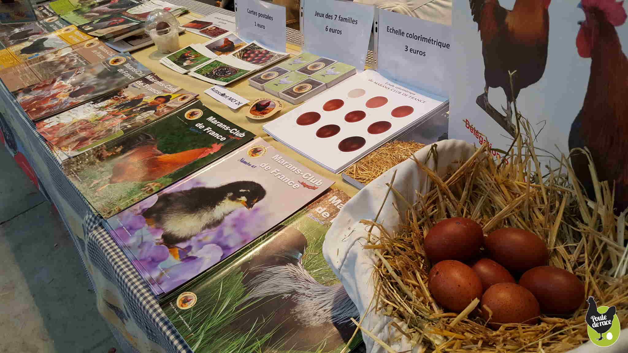 le Marans club de France pour la sauvegarde de la poule de Marans la poule aux oeufs extra roux était présent